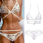 Womens Bikini Set Bandeau Triangle Push-Up Bra Swimsuit Beachwear Swimwear B20E
