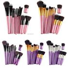 11Pcs Makeup  Eyeliner Lip Brush Set Pro Powder Blush Foundation Eyeshadow B20E