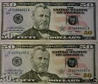 2 Lightly Circulated $50.00 Bills ($100 total)  Paper Money Fastest Shipping!!