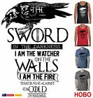Game Of Thrones Nights Watch Quote cool Retro Men's Funny T-Shirts Singlet size