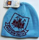 WEST HAM OFFICIAL SKI HAT WOOLLY BEANIE,NEW, ONE SIZE FITS,  SKY BLUE & MAROON
