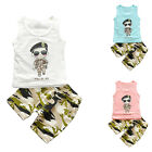 Summer Baby Toddler Kids Boys Casual Tops T-shirt Pants Set Outfits New