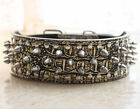 Spikes Studded Dog Collars Gold Leather Pet Collars Pitbull Terrier Boxer S - XL