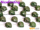 Wholesale Green Pyrite Bone Skull Beads For Paracord Jewelry Making Beads 15''