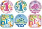 """1st Birthday 7"""" Round/Square Plates (First/Boy/Girl/Party/Tableware) (Unique)"""