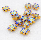 10x14x4MM cloisonne beads Buddhist Chinese knot jewelry accessories gifts # 39