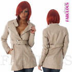 New Sexy Women's Faux Leather Trench Coat Jacket Outerwear Size 6 8 10 XS S M