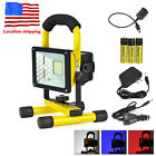 US 30W 24 RGB LED Camp Flood Spot Light Portable Rechargeable Outdoor Work Lamp