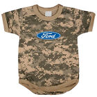 Ford Logo baby tee shirt infant one piece body suit army digital camo