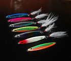 5PCS Deep sea Fishing Spoon Lure Metal Jig Jigbait Jigging spoon10g 14g 21g 28g