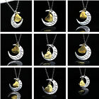 """Family Necklace Pendant """"I LOVE YOU TO THE MOON AND BACK """" Birthday Gifts US"""