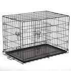 "48""/42""/36""/30""/24"" Pet Kennel Cat Dog Folding Crate Wire Metal Cage W/Divider"