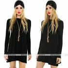 Rare Fashion Womens Cool Long Sleeve Bodycon Cocktail Party Sweater Mini Dress