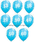 20 Robins Egg Blue Helium or Air Balloons Happy Birthday Party Decorations 11""