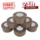 EXTRA STRONG 43 MICRON BIG TAPE PARCEL PACKING 50MM X150M BROWN /BUFF LOW NOISE
