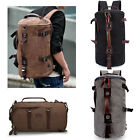 Fashion Men's Shoulder Bag Laptop Hiking Camping Canvas Outdoor Traval Backpack