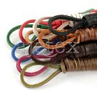 1pc 60/90/120/140cm Square Genuine Leather Shoelaces Unisex Boot Shoestrings