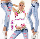 Sexy Skinny Leg Women's Slim Fit Distressed Jeans Size 6 8 10 12 14 XS S M L XL