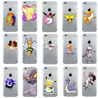 Handmade Pokemon Go Anime Clear Cell Phone Fitted Cover Case For iPhone Series