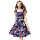 Women's  Simple Fashion Floral Printed Short Casual Party Cocktaik Dress 05483