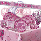 ALTER 50/50TH GEBURTSTAG ROSA GLANZ PARTY REIHE Ballon/Dekoration/Banner/