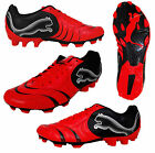 Mens Puma Powercat 4.10 FG Red Football Boots Soccer Firm Ground Boot 101917 New