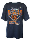 Chicago Bears Men's V-Style Graphic T-Shirt NFL Dark Blue Blend M, L on eBay
