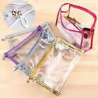 Clear Plastic Travel Toiletry Beauty Makeup Cosmetic Case Storage Organizer Bag