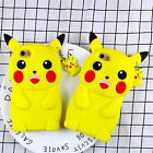 Pikachu Pokemon Go Soft Silicone 3D Cute Pendant Case Cover For iPhone Series