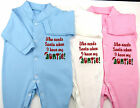 Who Needs Santa I Have My Auntie Christmas Baby Grow Boy Girl Clothes Funny Gift