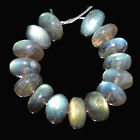 6x9mm Labradorite Strong Blue Flash Rondelles Beads 10pcs