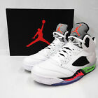Nike Air Jordan 5 Retro V Basketball With Right Foot Discoloration 136027-115