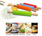 New Non-stick Silicone Rolling Pin Pastry Dough Wooden Roller Pastry Tools