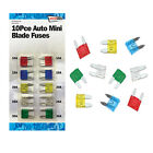 10 x CAR VAN AUTO PACK SET MIXED MINI BLADE FUSES 10A 15A 20A 25A 30A AMP