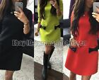 Sexy Women's Long Sleeve Casual Summer Cocktail Party Evening Short Slim Dress