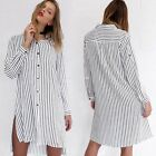 Europe fashion womer shirt dress Side Shirt Dress section irregular Mid Waist