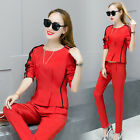 NEW! Fashion Women's clothing long sleeve Shitsuke sport Casual two-piece