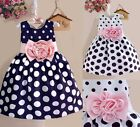 Summer Kids Baby Girl Princess Party Flower Gown Short Dresses Clothing Size 1-7
