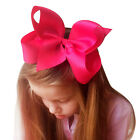 6 Inch Large Double Layers Grosgrain Ribbon Hairbow Baby Girls Hair Bows Clips