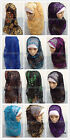New Style Sequins Embroidery Muslim Long Scarf Hijab Islamic Shawls(165cm*65cm)