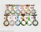FL Print Silicone Nurse Watch Brooch Tunic Fob Watch Doctor Medical With Battery