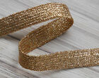 "GLITZY GOLD BRAID LUREX - CHOOSE FROM 6MM (15/64"") TO 25MM (1"") -  ***"