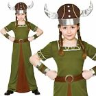 Viking Princess Girls Fancy Dress Costume Norse Vikings Outfit Ages 5-10