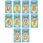 DELUXE Number Birthday CANDLE (0 - 9) {Unique} (Party/Cake/Red/White) #360
