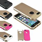 PC Shockproof High Impact Hard &Soft Rubber Case Cover for Apple iPhone 5s SE