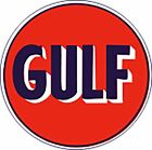 GULF Vintage Sign 8 sizes Contour Cut Decal Stickers Vinyl Lamination available