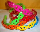 "NWT WOMENS OR GIRLS 1"" LINKING HEADBAND WITH TEETH MANY COLORS TO PICK #704B*"