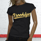 Brooklyn New York Vacation State Proud NY City Womens Black T-Shirt