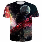 New Fashion Womens/Mens Cartoon Anime Tokyo Ghoul Funny 3D Print T-Shirt US43