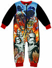 Boys Star Wars Battle Stormtrooper Darth Vader Microfleece Sleepsuit 2 - 8 Years